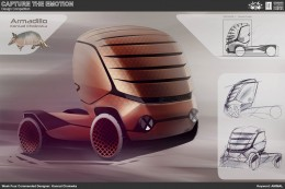 Animal Truck Concept Design Sketch by Konrad Cholewka