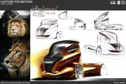 Animal Truck Concept Design Sketch by Raj Shekhar