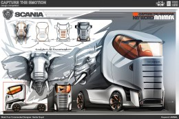 Animal Truck Concept Design Sketch by Serdar Soyal