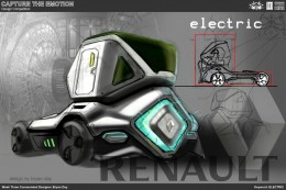 Electric Truck Concept Design Sketch by Bryan Day