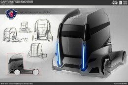 Electric Truck Concept Design Sketch by Hermann Seitz