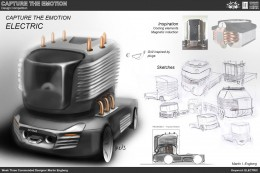Electric Truck Concept Design Sketch by Martin Engberg