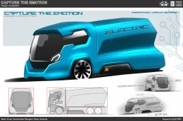 Electric Truck Concept Design Sketch by Pedro Almeida