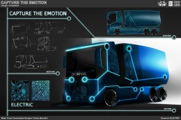 Electric Truck Concept Design Sketch by Tobias Benedini