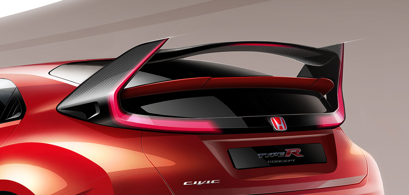 honda previews civic type r concept ahead of geneva debut. Black Bedroom Furniture Sets. Home Design Ideas