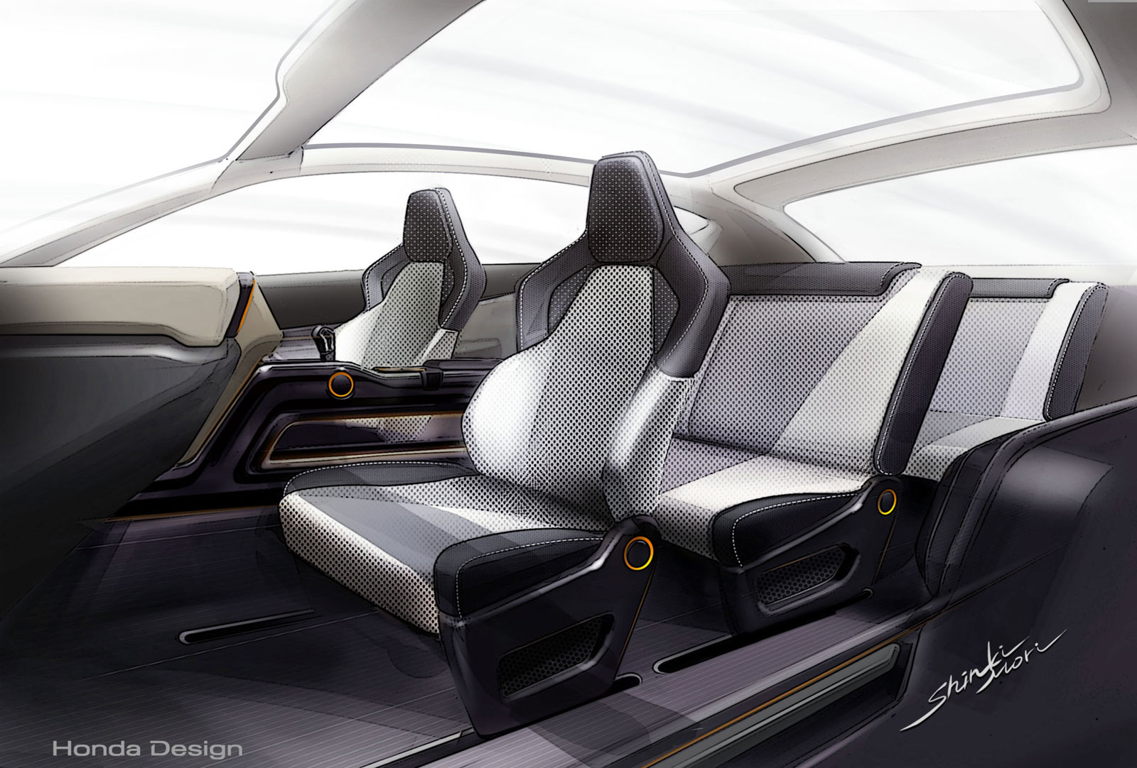 honda vision xs 1 concept interior design sketch car body design. Black Bedroom Furniture Sets. Home Design Ideas