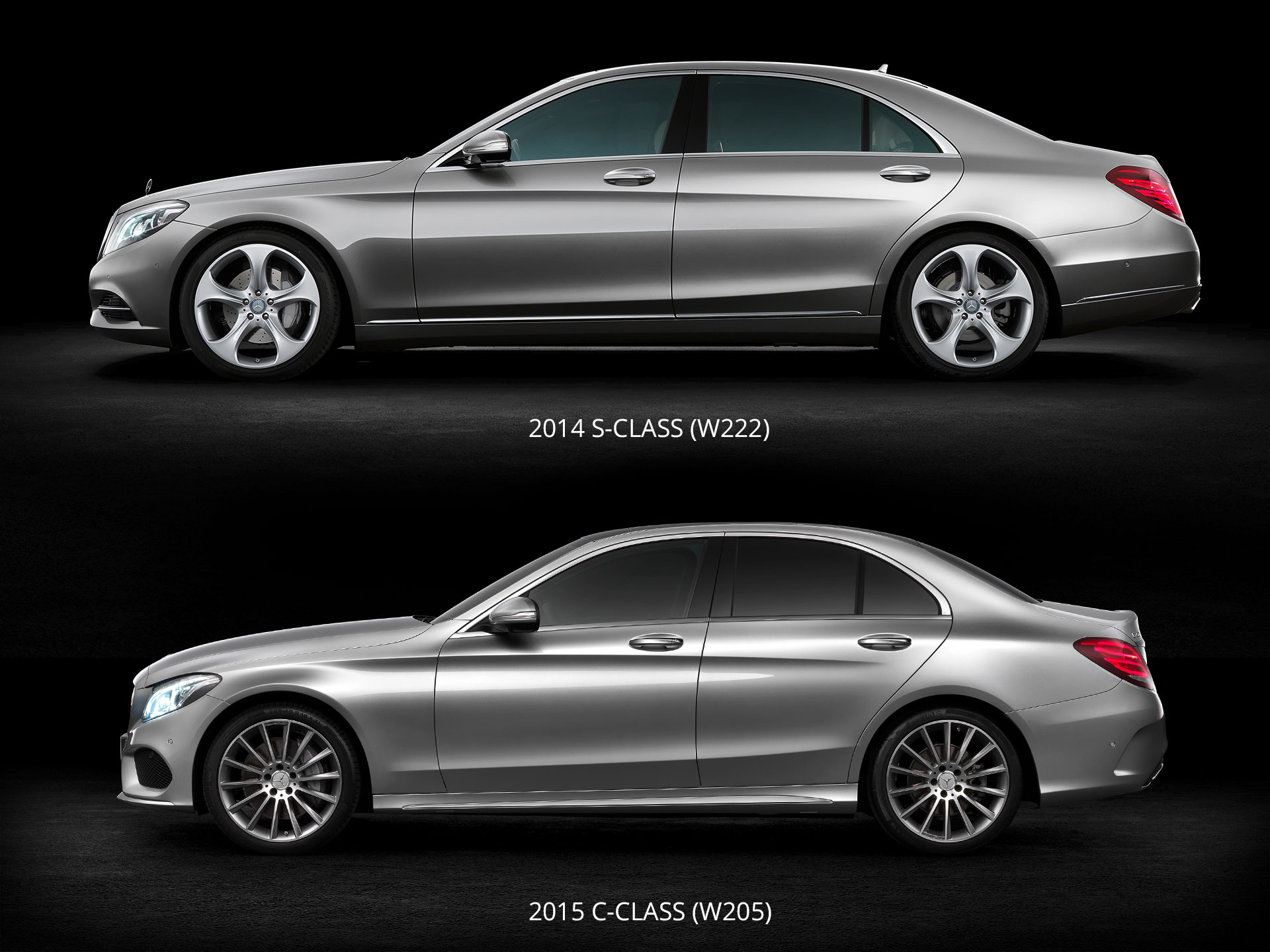 mercedes benz s class and c class design comparison car