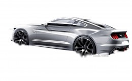 Ford Mustang Design Sketch by Kemal Curic