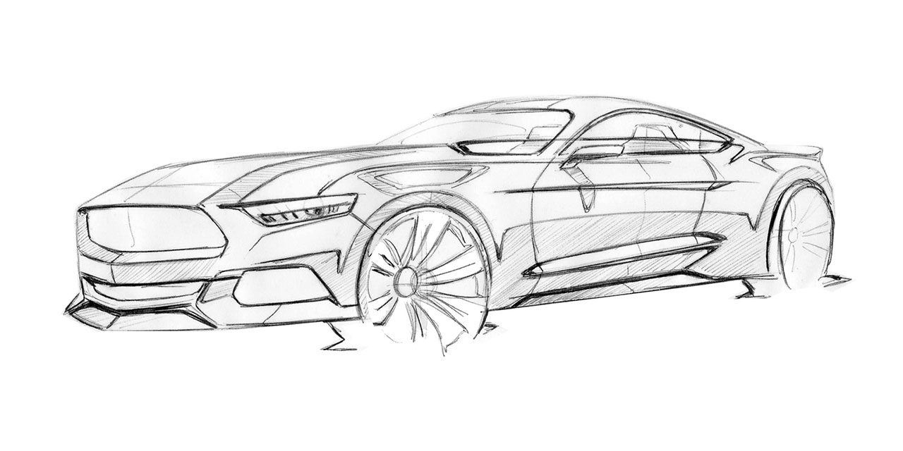 Ford Mustang Design Sketch By Kemal Curic Car Body Design