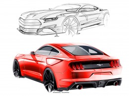 Ford Mustang Design Sketches by Kemal Curic