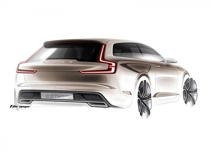 Volvo Concept Estate Car Body Design