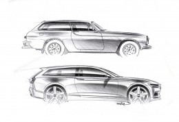 Volvo Concept Estate - design inspiration from the 1800 ES - Design Sketches