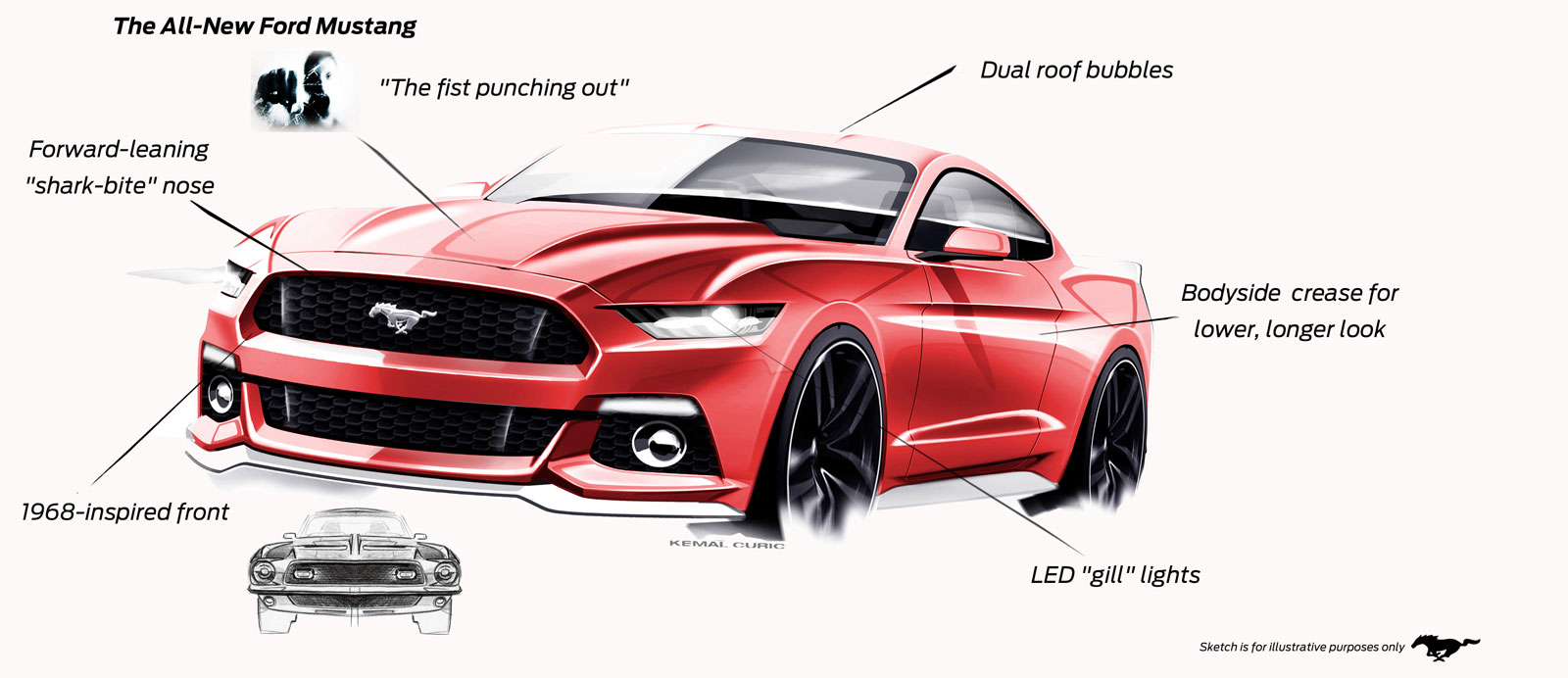 ford mustang exterior design elements car body design