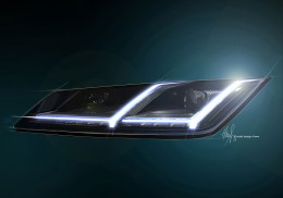 New Audi TT Design Sketch Headlight