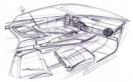 New Audi TT Interior Design Sketch
