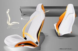 New Audi TT Interior Design Sketch Seats
