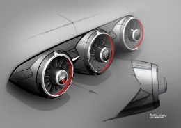 New Audi TT Interior Design Sketch Air vents by Maximilian Kandler