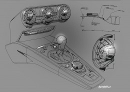 New Audi TT Interior Design Sketch Center tunnel and dashboard by Maximilian Kandler