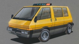 1976 Alfa Romeo New York Taxi Prototype - Design Sketch by Giugiaro