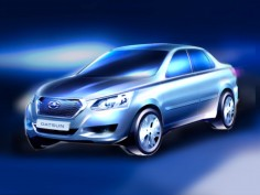 Datsun teases new model for Russia with design sketch
