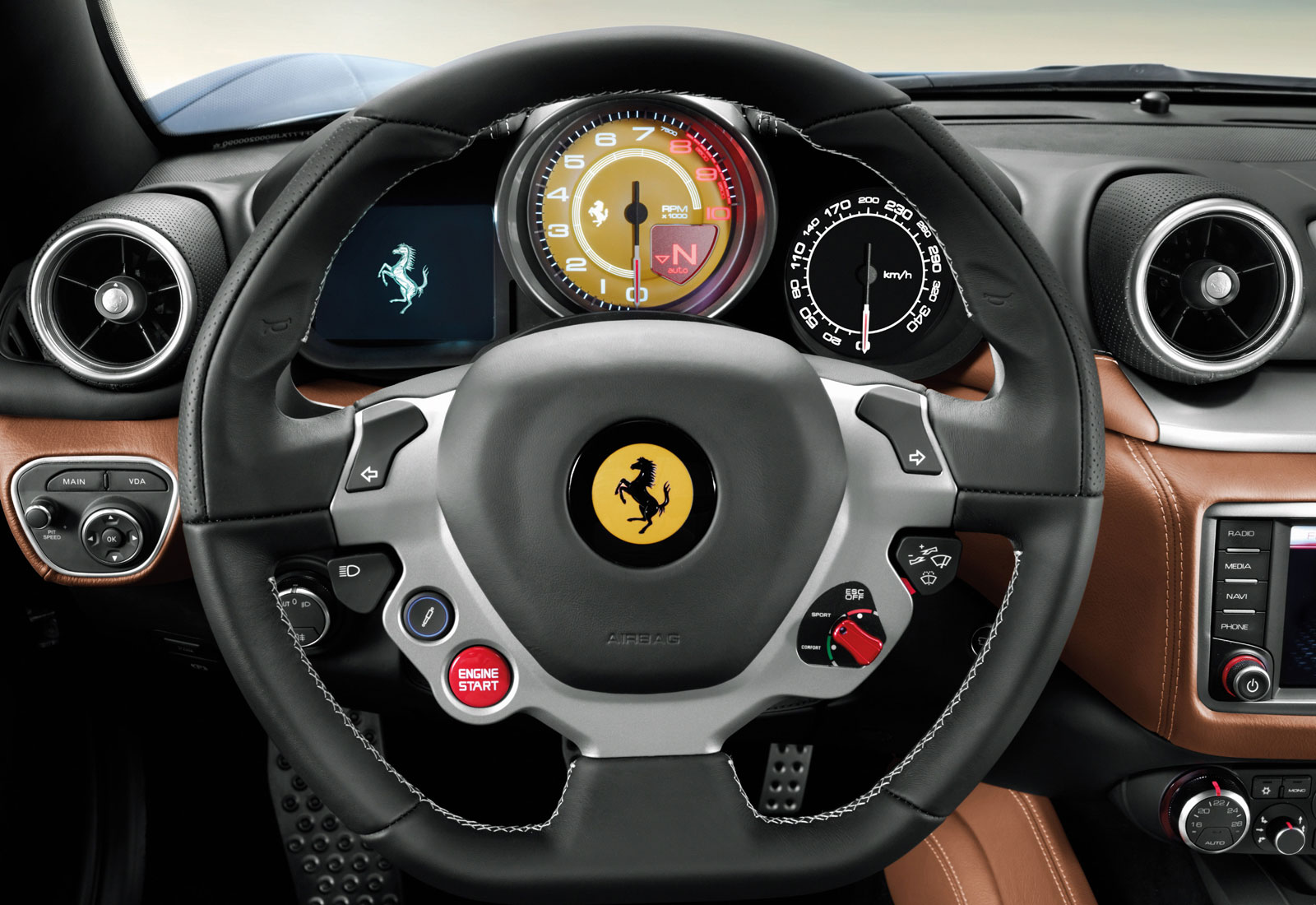 Ferrari California T Interior - Steering Wheel - Car Body Design