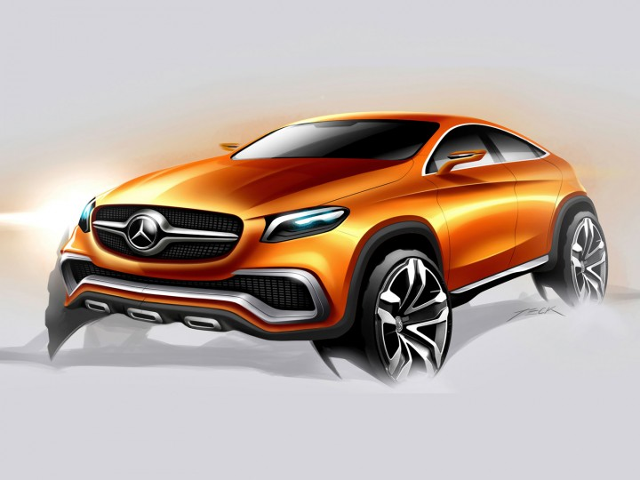Mercedes benz concept coup suv car body design for Mercedes benz auto body