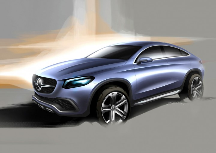 Mercedes benz concept coup suv car body design for Mercedes benz concept suv