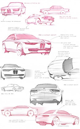 BMW CS Vintage Concept Design Sketches