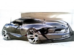 BMW Concept design sketch by Maxim Shershnev