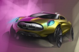 Jaguar SUV Concept Design Sketch by Mike McGee