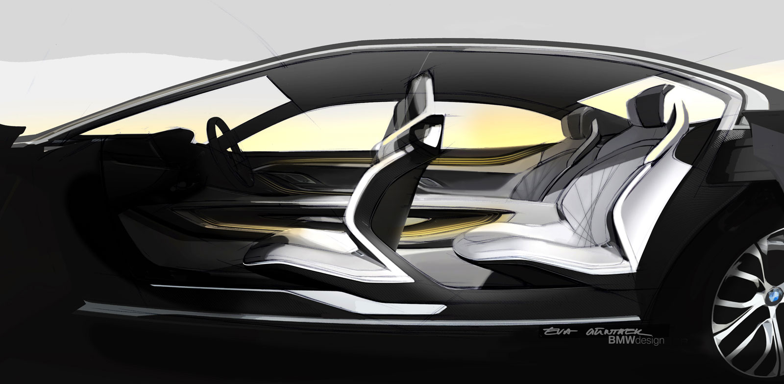 bmw vision future luxury concept interior design sketch car body design. Black Bedroom Furniture Sets. Home Design Ideas