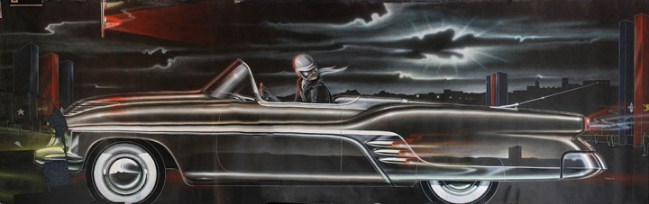 1951 Cadillac Convertible Concept Car Illustration by Carl Renner