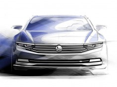 Volkswagen teases 2015 Passat with design sketches
