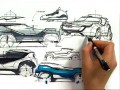 Sketching car design ideas