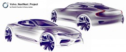 Volvo NextNext Project - Design Sketches by Charlie Fournier and Henry Jordan