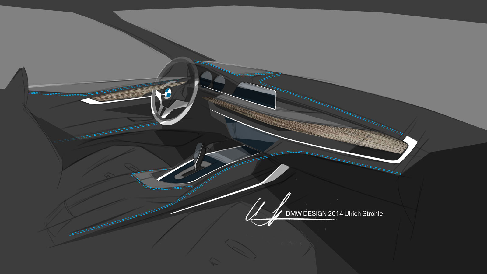 Bmw X6 Interior Design Sketch Car Body Design