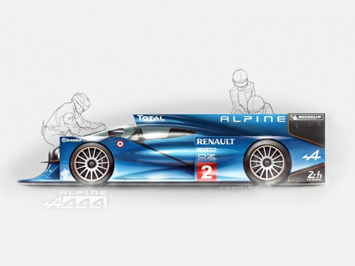 Alpine A444: Rendering walkthrough