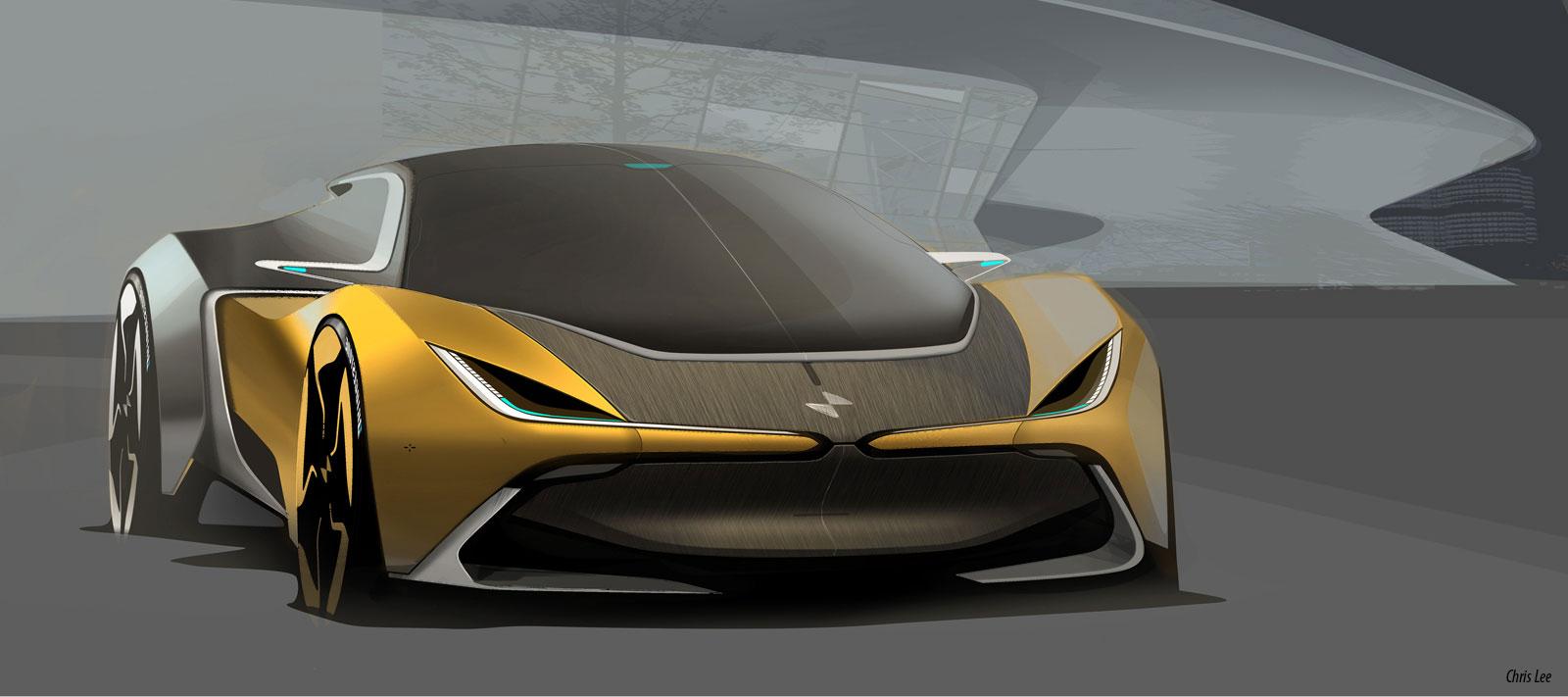 Bmw I2 Concept Design Sketch Car Body Design