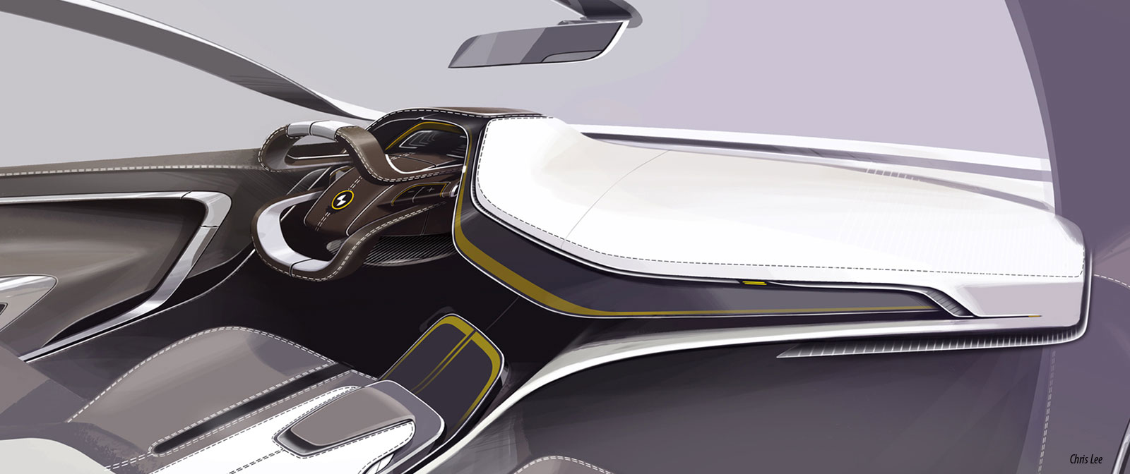 Bmw i6 concept interior design sketch car body design for Interior design concept