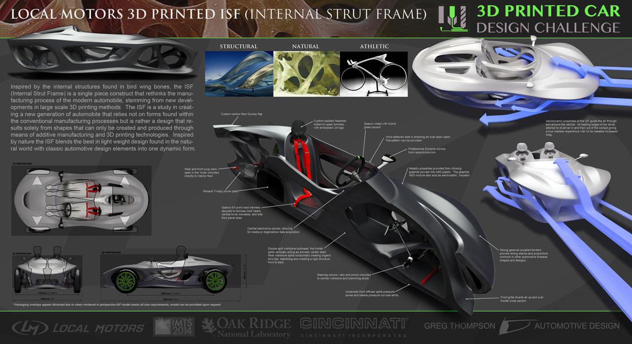 Design of car frame - Internal Strut Frame Concept