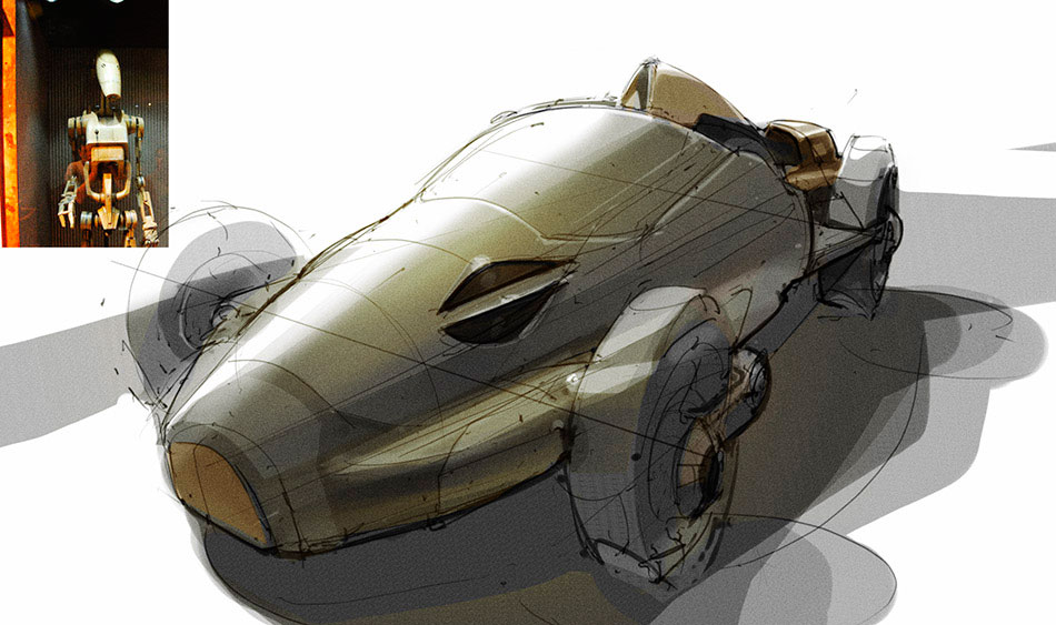 Design Sketches Star Wars Inspired Vehicles Car Body Design