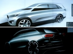 Kia teases new Sorento with design sketches (w/video)