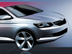 New Škoda Fabia: design sketch preview