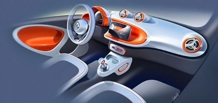 smart previews next gen fortwo with design sketches car body design. Black Bedroom Furniture Sets. Home Design Ideas