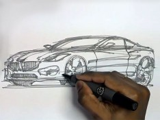 Car-Sketching---Scribbling-method
