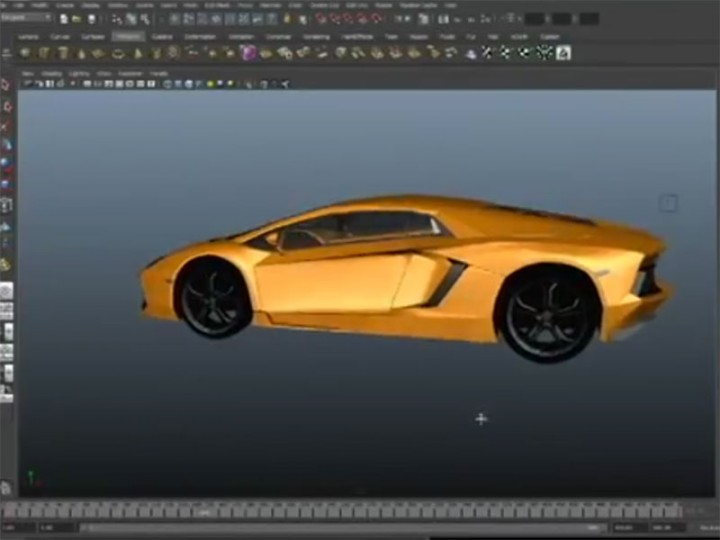 3d Timelapse Lamborghini Aventador Modeled In Autodesk