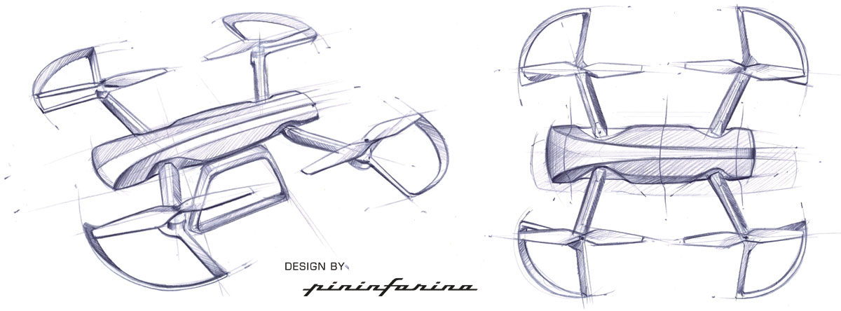 Sky Rider Drone By Pininfarina Design Sketches Car