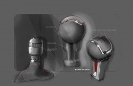 2015 Ford Mustang - Interior design sketches - Gear shifter
