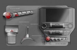2015 Ford Mustang - Interior design sketches - Toggles