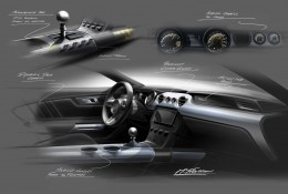 2015 Ford Mustang - Interior design sketches - Theme B Development